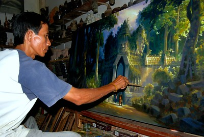 Painter, Siem Reap