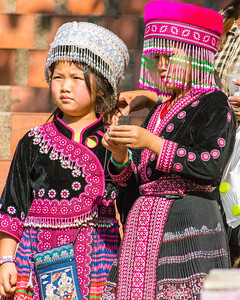 Thai Hill Tribe girls