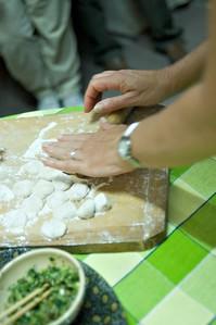 Our hostess showed us how to make dumplings