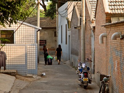 The street side of hutong dwellings are featureless