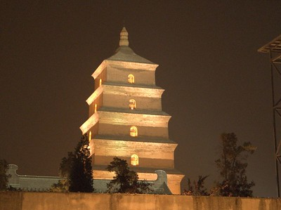 Our hotel was  in the Big Wild Goose Pagoda area, surrounded by public parks, squares, and a monastery