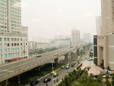 Chengdu itself was a smog ridden grey city
