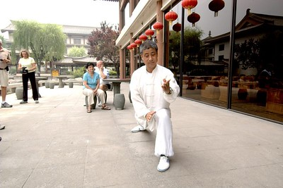 The hotel put on a Taichi demonstration