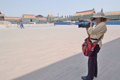 Val with her HDTV video camera