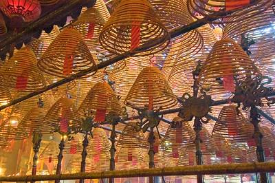 Incense in the Man Mo Temple, Hong Kong