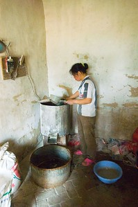 Much of the wealth of the village was ascribed to small industries like this noodle factory