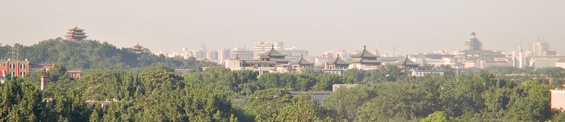 The Forbidden City from our hotel window