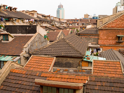 "Old Ghetto rooftops. This area was the ""Designated Area for Stateless Refugees"" arriving during the period 1937-1941. The Jewish population has since left, moving on to Australia, the USA and Israel."