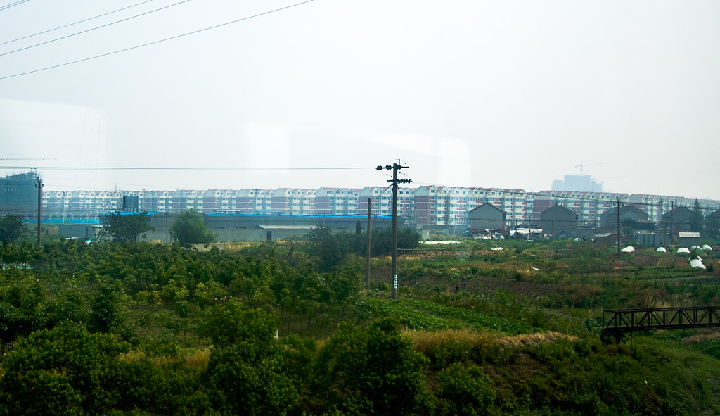From the train we saw enormous projects consisting of hundreds of buildings stretching as far as we could see in the smog.