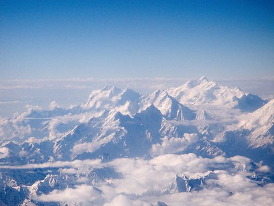 Flying over the Himalayas to the roof of the world