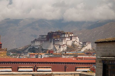 From the roof  the Jokhang Temple