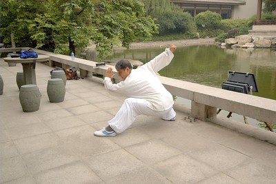 The Tai Chi instructor at our hotel