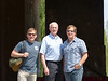 Bill, Steve, and dad standing in front of the main pagoda at the Sacred Way of the Ming Tombs<br /> Beijing