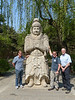 Bill, Steve, and dad at the Sacred Way of the Ming Tombs<br /> Beijing