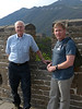 Steve and dad on the Great Wall of China<br /> Mutianyu Section, Beijing