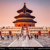 Asia - China - North China - Beijing - Peking - 北京 - Temple of Heaven - Altar of Heaven - 天坛 - UNESCO World Heritage Site - Imperial complex of religious buildings visited by Emperors for annual ceremonies of prayer to Heaven
