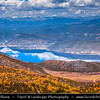 Asia - China - Southwest China - Yunnan Province - Diqing Tibetan Autonomous Prefecture - Shangri-La County - Shika Snow Mountain - Autumn landscape along cable car ride from the 3,270 m. (10,728 ft.) Napa Meadow to about 4,000 m. (13,123 ft.) high