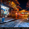 Asia - China - Southwest China - Yunnan Province - Diqing Tibetan Autonomous Prefecture - Shangri-La City - Zhongdian - Xianggelila - Gyalthang - Gyaitang - Beautifully preserved Ancient Tibetian town at Elevation of 3,160 m (10,370 ft) - Dukezong Old Town - Traditional local street