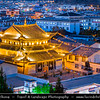 Asia - China - Southwest China - Yunnan Province - Diqing Tibetan Autonomous Prefecture - Shangri-La City - Zhongdian - Xianggelila - Gyalthang - Gyaitang - Beautifully preserved Ancient Tibetian town at Elevation of 3,160 m (10,370 ft) - Dukezong Old Town - Traditional Cityscape with Buddhist temple