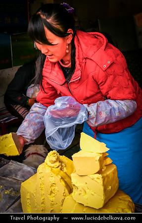 Asia - China - Tibet - Lhasa - Tibetian capital on Tibetan Plateau at altitude of 3,490 metres (11,450 ft) - Traditional local Market