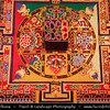 "Asia - China - Tibet - Lhasa - Tibetian capital on Tibetan Plateau at altitude of 3,490 metres (11,450 ft) - Sera Monastery - Wild Roses Monastery - One of the ""great three"" Gelug university monasteries of Tibet - Beautiful Mandala created from sand"