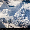 Asia - China - Tibet - Himalayas - Aerial View of Himalaya mountains - Asian mountain range with many of Earth's highest peaks, separating Tibetan Plateau