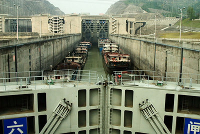 Locks at the new dam