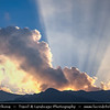 Asia - China - Southwest China - Yunnan Province - Dali - Surrounding mountainous landscape during Dramatic Sunset
