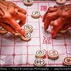 Asia - China - Southwest China - Yunnan Province - Kunming - 昆明市 - Yunnan's Capital - Daguan Park - Traditional Local Life - Xiangqi - Chinese chess - Strategy board game for two players - One of the most popular board games in China
