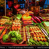 Asia - China - Southwest China - Yunnan Province - Dali - Historical town with ancient wooden houses & cobbled streets - One of Yunnan's most popular tourist destinations - Old Town - Traditional Food Market