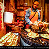 Asia - China - Southwest China - Yunnan Province -  Lijiang - 丽江- Likiang - Old Town - UNESCO Heritage Site - Ancient town's traditional food market with unusual offer