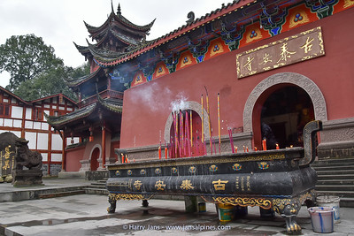 temple in Qingcheng Shan village