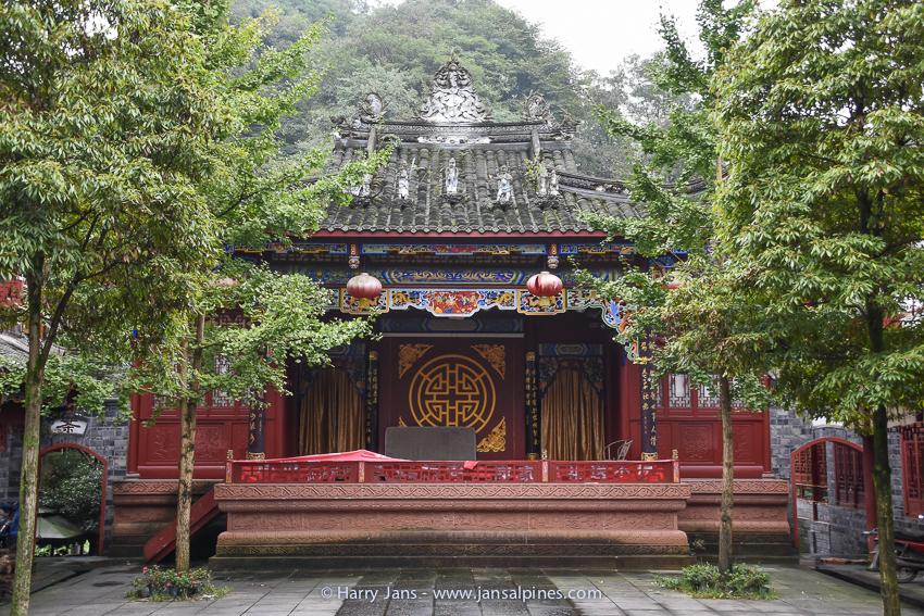 temple at Qingcheng Shan village