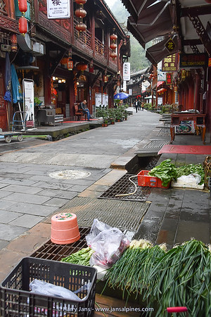 street in Qingcheng Shan village