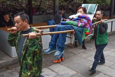 you can be carried on Emei Shan
