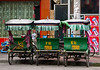 Pedal cabs in downtown Lhasa commercial district