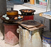 Tea-boiled egg stand, commercial district, Lhasa