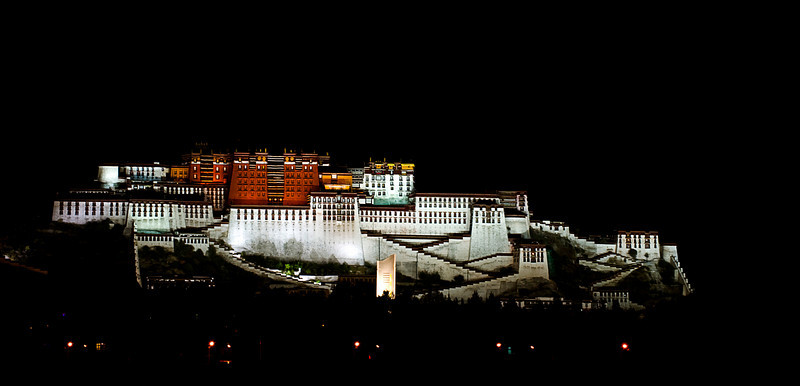 The Potola Palace was the seat of government, the center of religion and the hub of learning for Tibetan Buddhists under the Dalai Lamas for seven hundred years. It is now a museum under intensive security by the People's Republic of China.