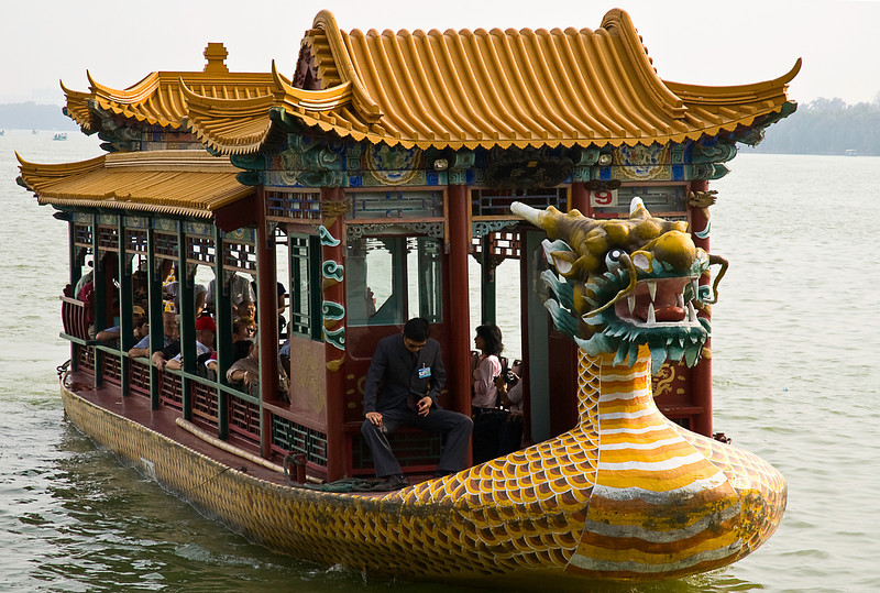 Dragon boat on Kunming lake, Summer Palace