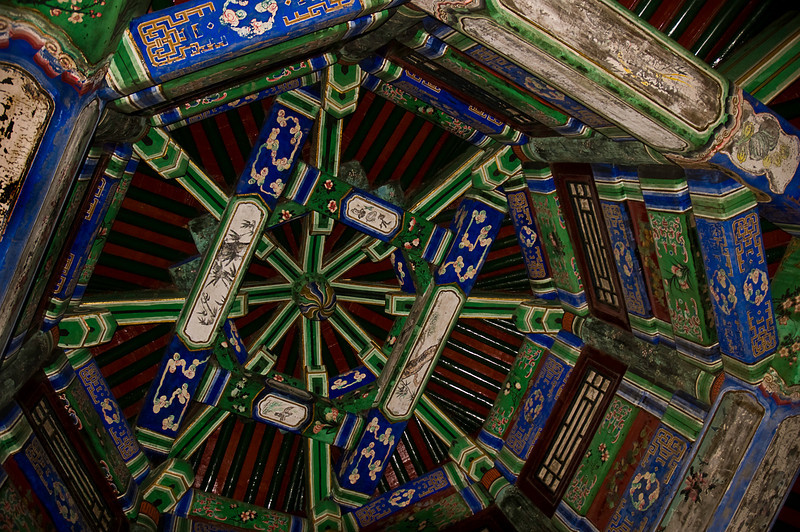 Ceiling detail, Long Corridor Hall of Jade Ripples, Summer Palace