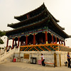 Temple at the summit in Jingshan Park. This is where I took many of my photos from.