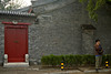 Some buildings in the hutong are beautifully restored private residences.
