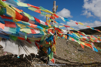 prayer flags at Gaoersi pass, 4412m