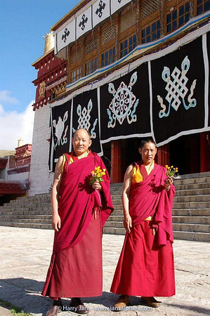 monks at Litang Chˆde Monastery