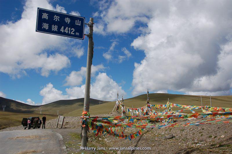 Gaoersi pass, 4412m