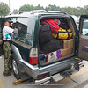 our jeep full with luggage at start Chengdu