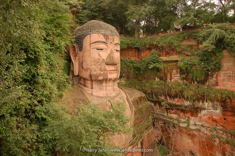 Leshan, Giant Buddha, 71m  (from 800 AD)