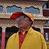 monk at Litang Chode Monastery