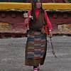 Tibetan woman at stuppa (Litang)