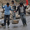 road works by hand